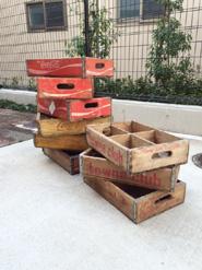 コカコーラの木箱