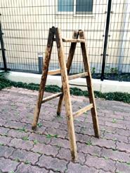 日本のヴィンテージ木製梯子