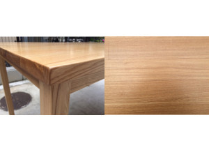 タモ材ダイニングテーブル詳細画像1