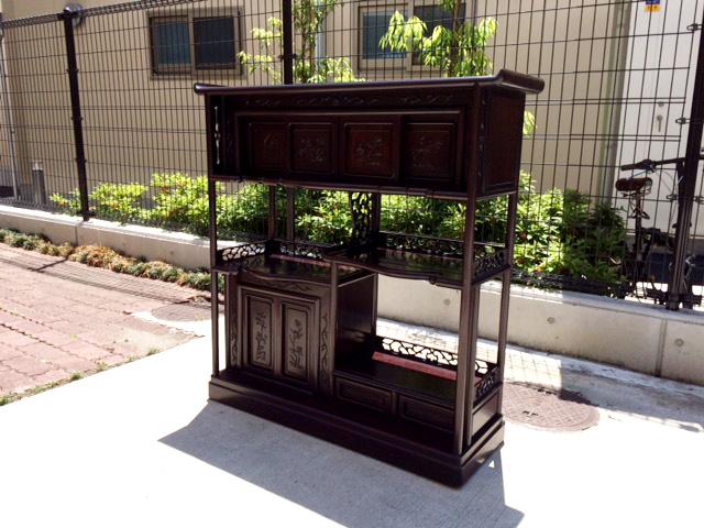 中国の紫檀唐木茶棚