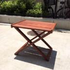 無垢材の木製トレイテーブル