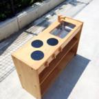 ブロック社の白木流し台