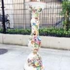 イタリア製のハンドペイント花台