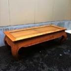 アジアンなウッドローテーブル
