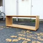無印良品のオーク材テーブルベンチ