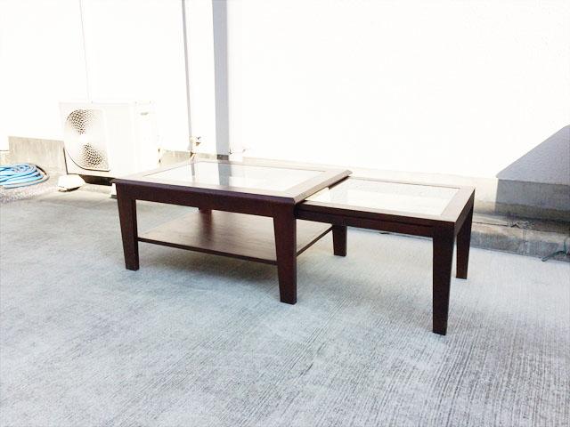 ビーカンパニーの2連ローテーブル
