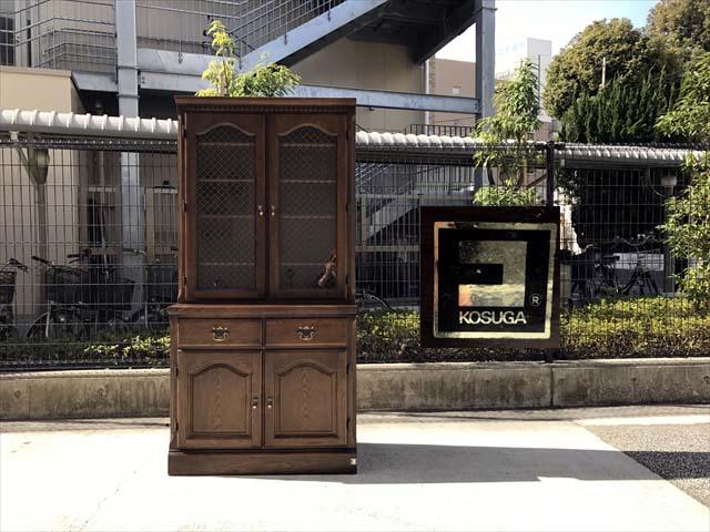コスガのナラ材食器棚