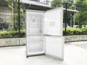 2ドア冷蔵庫 開き全体