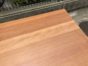 VIVOダイニングテーブル 天板角2