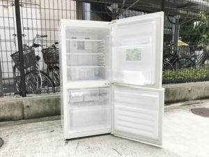 2ドア冷蔵庫 オープン時