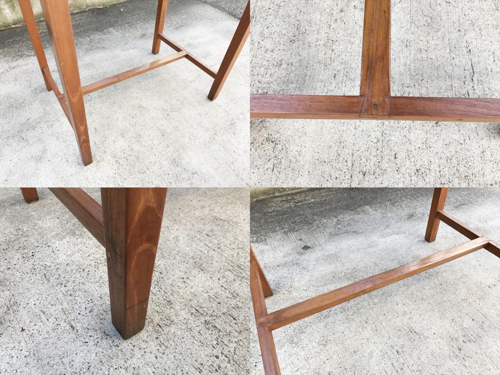 チーク材テーブル詳細画像4
