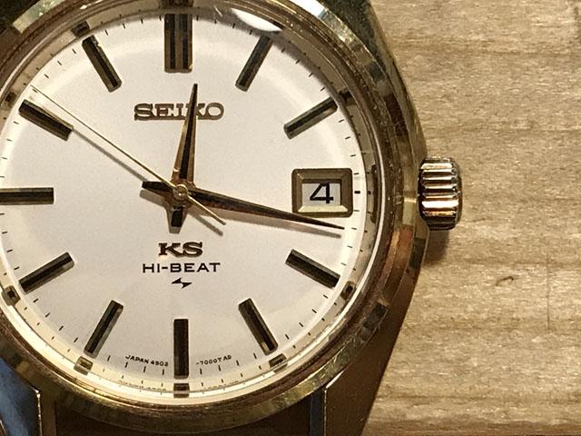 キングセイコー手巻き腕時計