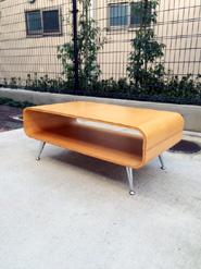 プライウッドローテーブル