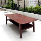 無垢材の木製ローテーブル