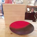 信楽焼の赤黒大鉢