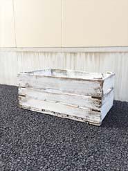 シャビーなペイント木箱