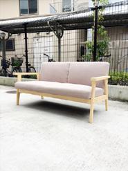 無印良品の木製フレームソファ