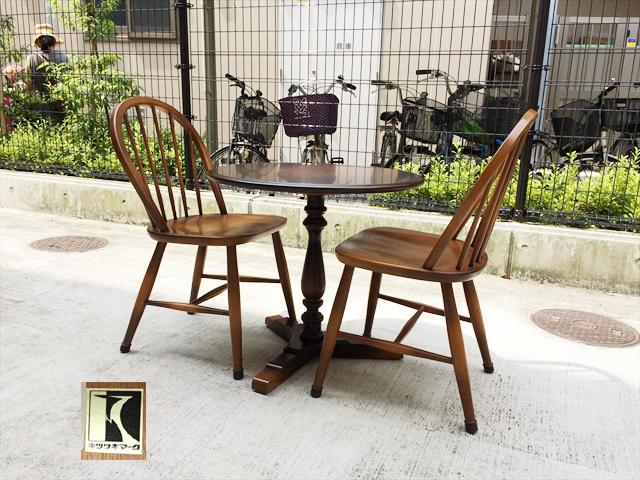 飛騨産業のカフェテーブルセット