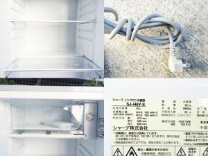 シャープ1ドア冷蔵庫詳細画像1