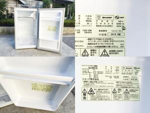 シャープ1ドア冷蔵庫詳細画像2