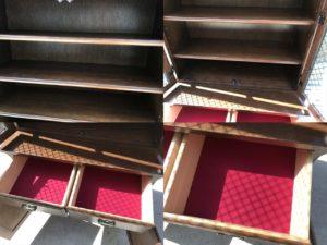 コスガのナラ材食器棚詳細画像5