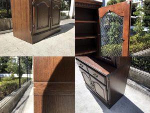 コスガのナラ材食器棚詳細画像4