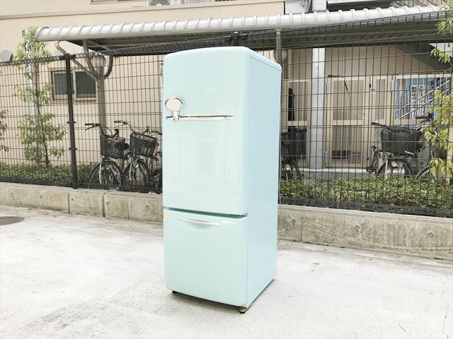 ウィルミニターコイズブルー冷蔵庫詳細画像1