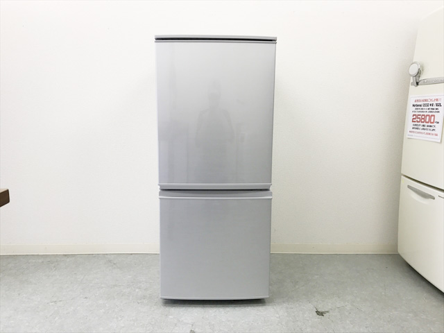 シャープの2017年製2ドア冷蔵庫