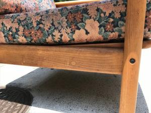 ヴィンテージアームチェア 座面正面