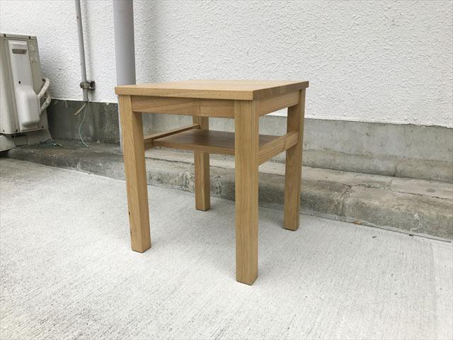 無印良品 タモ材サイドテーブル 買取