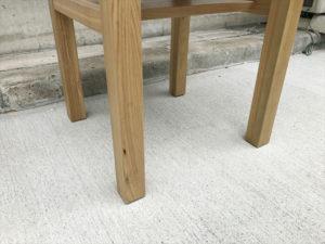タモ材サイドテーブル 脚部