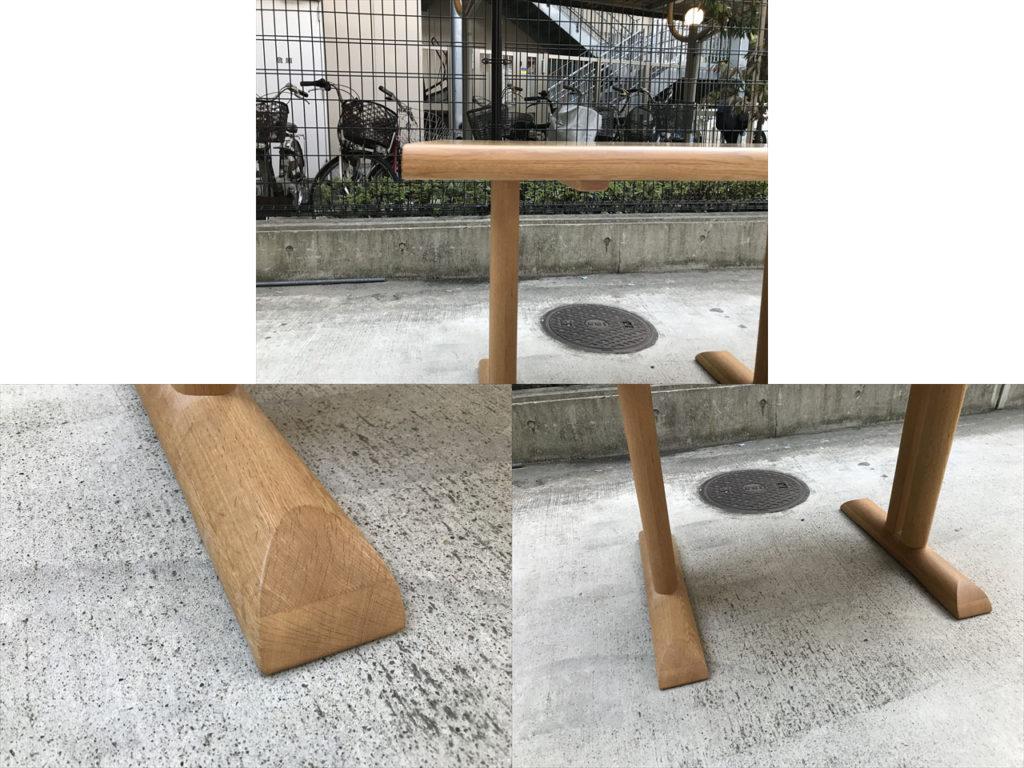 円空ダイニングテーブル詳細画像6