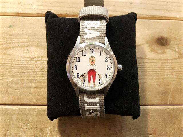 野生爆弾くっきーキャラウォッチバランスおじさん腕時計