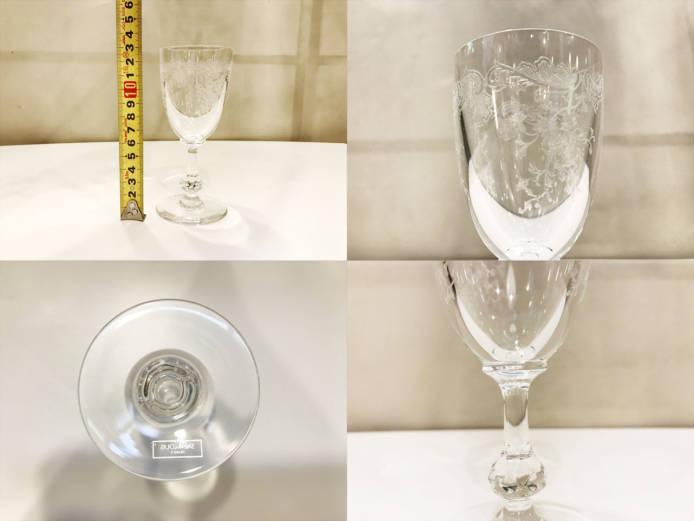 サンルイクレオクラレットワイングラス詳細画像3