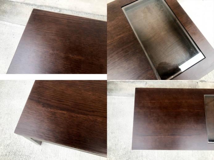 エーフラットガラスローテーブル詳細画像3