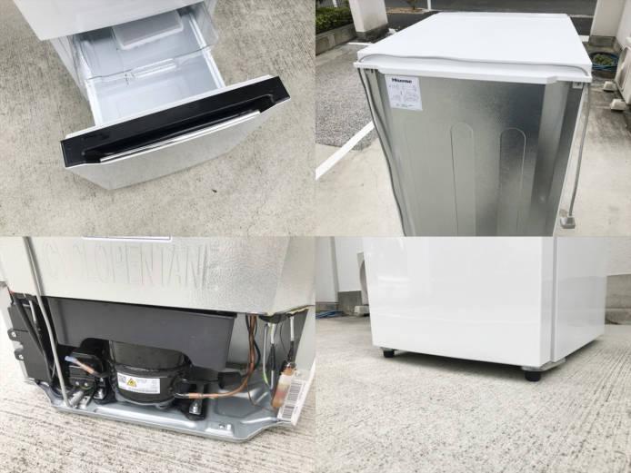 ハイセンス150リットル容量2ドア冷蔵庫詳細画像1