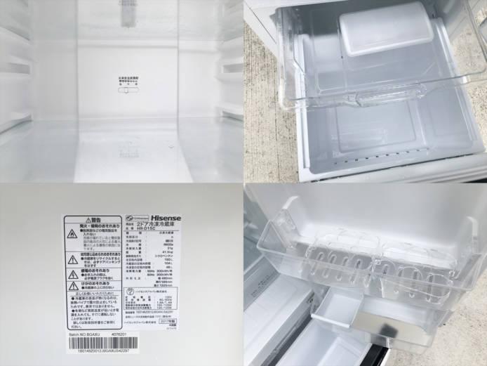 ハイセンス150リットル容量2ドア冷蔵庫詳細画像2