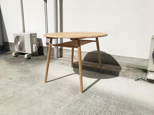 モモナチュラルヴィボサークルダイニングテーブル