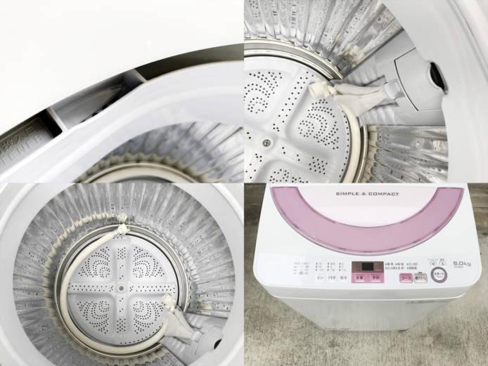 シャープ6キロ全自動洗濯機ES-GE6A詳細画像2