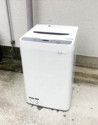 シャープ5.5キロ全自動洗濯機コンパクトボディ