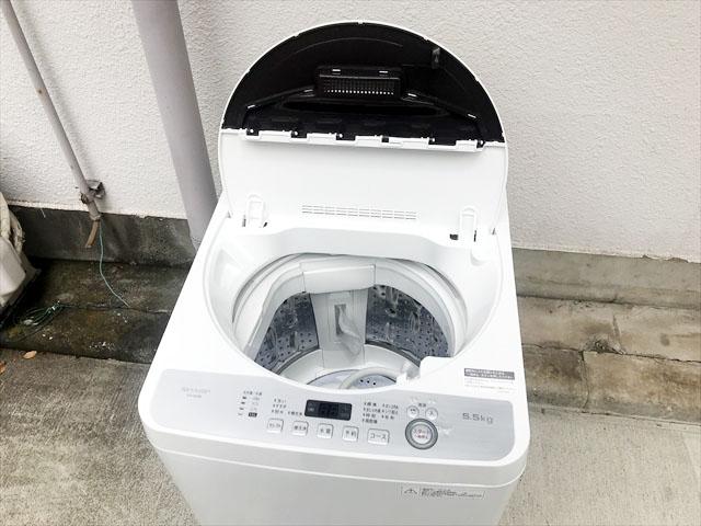 5.5キロ全自動洗濯機コンパクトボディ