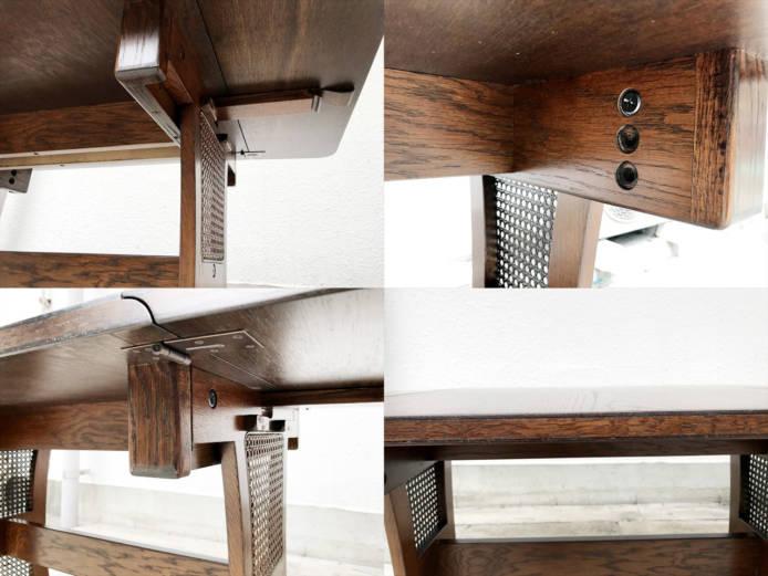 ブルージュダイニングテーブルとサイドチェア詳細画像4