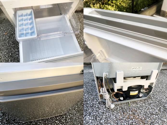三菱コンパクト2ドア冷蔵庫ラウンドカット詳細画像1