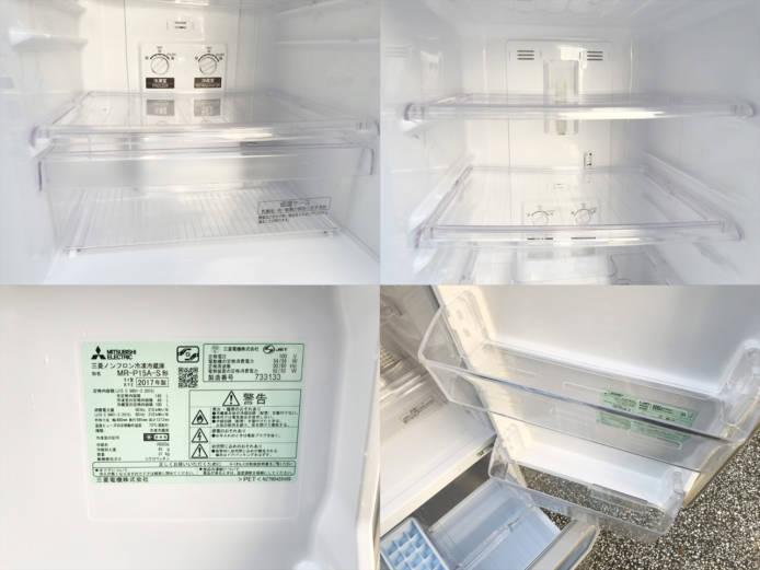 三菱コンパクト2ドア冷蔵庫ラウンドカット詳細画像2