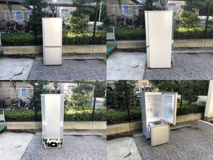 三菱コンパクト2ドア冷蔵庫ラウンドカット詳細画像4