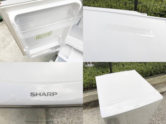 シャープ137L2ドア冷蔵庫どっちでもドア詳細画像3
