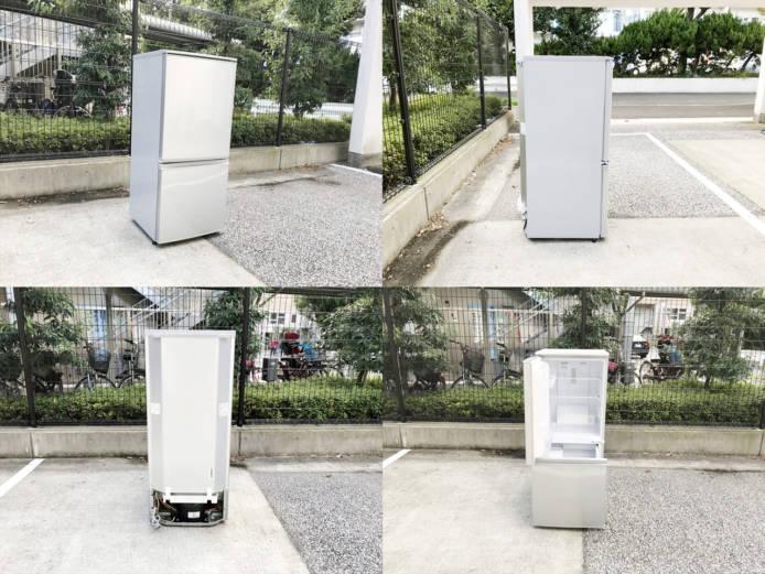 シャープ137L2ドア冷蔵庫どっちでもドア詳細画像4