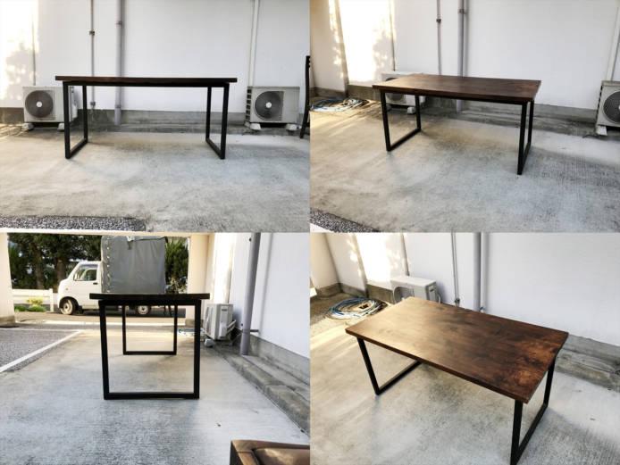 バリリゾートチーク材ダイニングテーブルとチェア4脚セット詳細画像1
