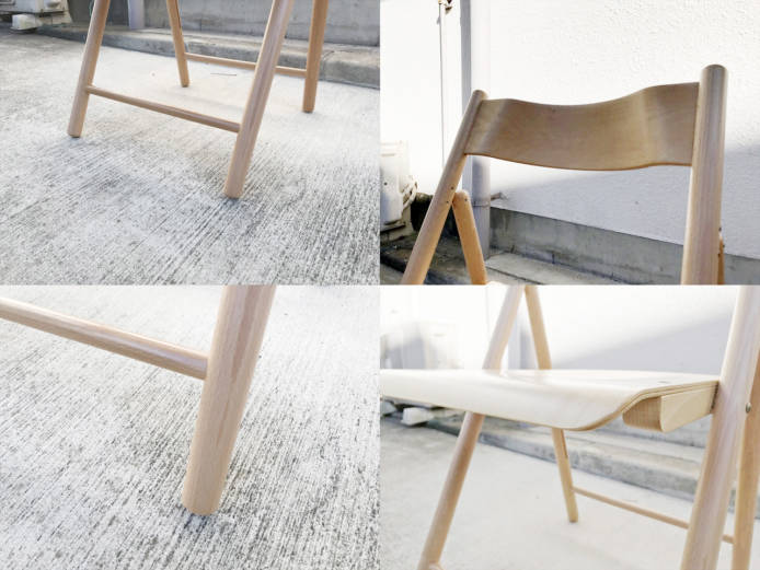 無印良品パイン材テーブルとブナ材チェアセット詳細画像2