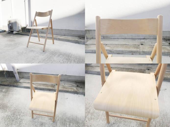 無印良品パイン材テーブルとブナ材チェアセット詳細画像3